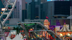 FERRIS WHEEL FUNFAIR CENTRAL HONG KONG CHINA Stock Footage