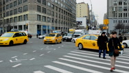 People and cars in New York Stock Footage