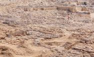 Ancient Cemetery at Olives Mountain, Jerusalem Stock Photos