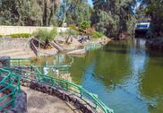 Shores of Jordan River at Baptismal Site Stock Photos