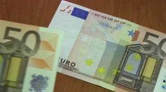 50 Euro Bills Stock Footage
