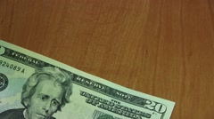 20 Dollar Bills Stock Footage