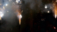 Fire Run (Correfoc) traditional celebration of Catalonia. Stock Footage