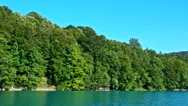 Waterfall and Lake in Plitvice, National Park, beautiful place in Croatia Stock Footage