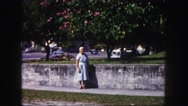 1960: woman is seen posing FLORIDA Stock Footage