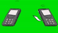 Telephone Texting Message  Grey - Animation - Hand-Drawn - Green Screen - Loo Stock Footage