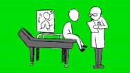 Doctor Patient Grey - Animation - Hand-Drawn - Green Screen - Loop Stock Footage