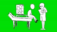 Doctor Patient - Animation - Hand-Drawn - Green Screen - Loop Stock Footage