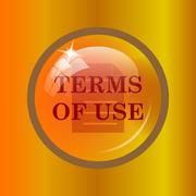 Terms of use icon. Internet button on colored background. . Stock Illustration