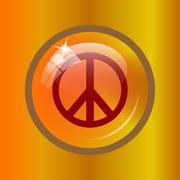 Peace icon. Internet button on colored background. . Stock Illustration