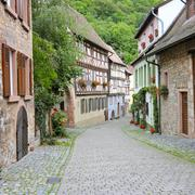 Street of the old town in Germany Stock Photos