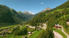 Scenic village of Heiligenblut in the Alps Stock Footage