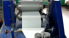 Machine for production of napkins Stock Footage