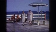 1960: beach scene is seen FLORIDA Stock Footage