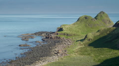 The small mountain range in the Giants Causeway Stock Footage