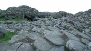 Giants Causeways big basalt rocks Stock Footage