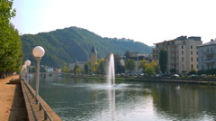 Bad EMS, Germany's beautiful Rhine in Sunny weather Stock Footage
