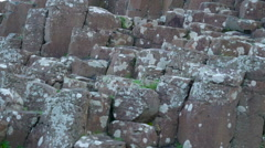 The formations of basalt rock columns Stock Footage