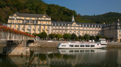 Bad EMS, Germany a beautiful town in Sunny weather Stock Footage
