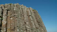 Big rock formation in the Giants Causeway Stock Footage