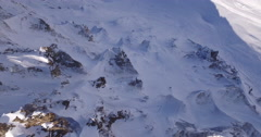 Epic snow mountains aerial shot with drone Topshot Stock Footage