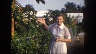 1960: garden is seen FLORIDA Stock Footage