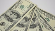 Banknotes on a white background, isolate. Stock Footage
