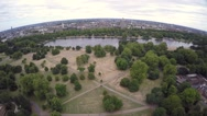 Aerial view of Hyde park in London Stock Footage