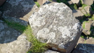 One of the many big rocks in the columns Stock Footage