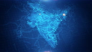 India Map 4K Graphical  Stock Footage