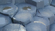 The big white rocks in the sea shore Stock Footage