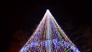 Christmas fir-tree in the city Stock Footage
