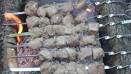 Barbecues prepapation outdoors Stock Footage