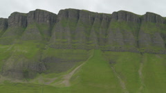 Beautiful rock formations called the Benbulbin Stock Footage