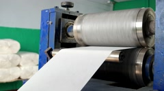 Shaft which pushes a relief pattern on paper Stock Footage