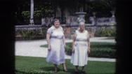 1960: couple is seen walking happily FLORIDA Stock Footage