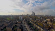 Flying over Bermondsey houses - Aerial view of Elephant & Castle Stock Footage