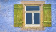German window with shutters Stock Photos
