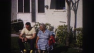 1960: old couple is seen FLORIDA Stock Footage