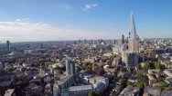 Aerial view of the Shard Stock Footage
