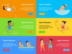 Sport banners. Summer Games Set Collection Stock Illustration