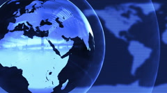 Spinning Glass or Metal Globe Seamless Motion Background Blue Cyan Stock Footage