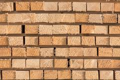 Stacked lumber background Stock Photos