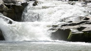 Mountain river and falls Stock Footage