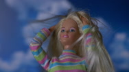 GIRL DOLL GLAMOUR SHOT Stock Footage