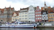 Gdansk, Poland. Motlawa river and old town Stock Footage