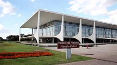 Palacio Do Planalto (Planalto Palace) In Brasilia, Capital Of Brazil Stock Footage
