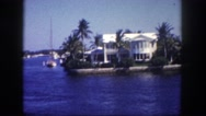 1960: coastal area is seen with tall trees FLORIDA Stock Footage