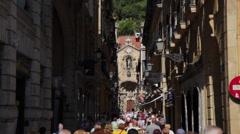 View of San Sebastian city, Spain Stock Footage