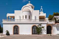 Church with white walls. Stock Photos
